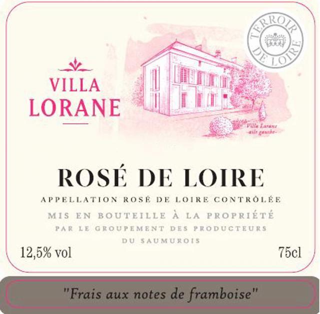Rose de Loire Villa Lorane