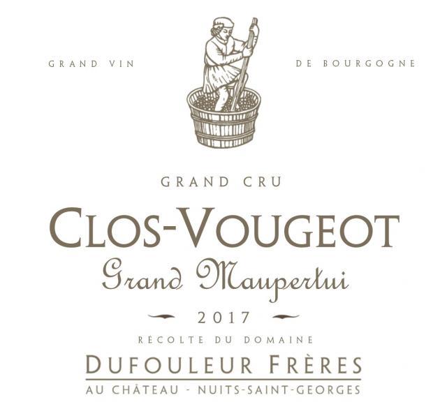 DF   Clos Vougeot Grand Cru Grand Maupertui 2017