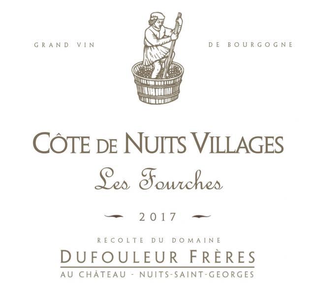 DF   Côte de Nuits Villages Les Fourches 2017