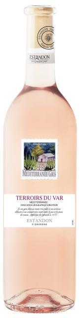 Terroirs du Var - Méditerranée rosé 75cl