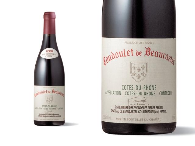 Bouteille et Etiquette Coudoulet de Beaucastel Rouge